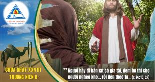 Suy Niệm Tin Mừng Chúa nhật 28 Thường Niên năm B